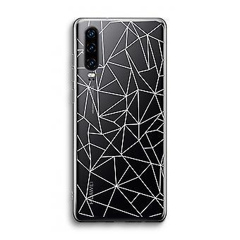 Huawei p30 transparente caso-linhas geométricas branco