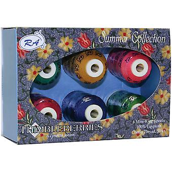 Thimbleberries Cotton Thread Collections 500 Yards 6 Pkg Summer Ggq 1004