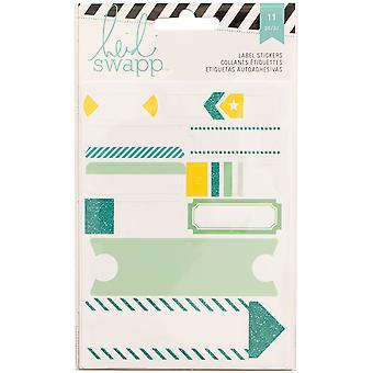 Heidi Swapp Stickers-Labels/Teal HSSTK-12238