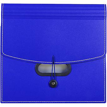 13-Pocket Ladder Expanding File -Blue 48015