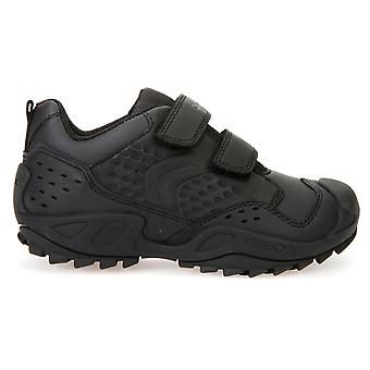 Geox Boys Savage J641VE School Shoes Black