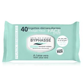 Byphasse Aloe Vera Cleansing Wipes känsliga 40 enheter