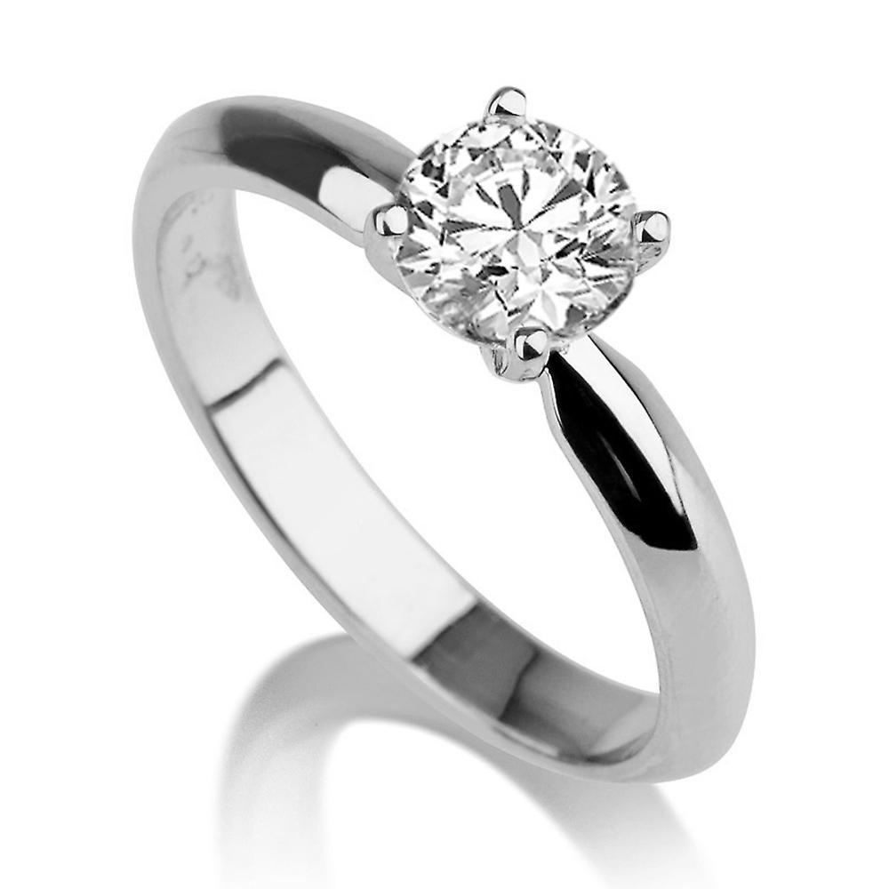 2 carat H SI2 Diamond Engagement Ring 14k or blanc classique Vintage Unique