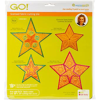 GO! Fabric Cutting Dies-Star Medley 5 Point By Sarah Vedeler 55311
