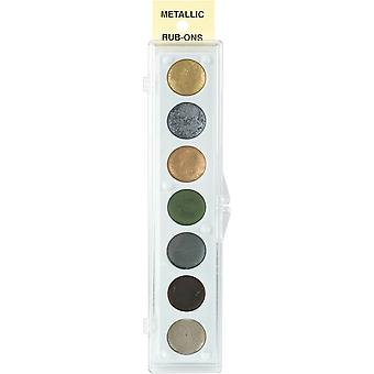 Metallic Rub-On lak palet - 7 kleuren-Kit #2 33042