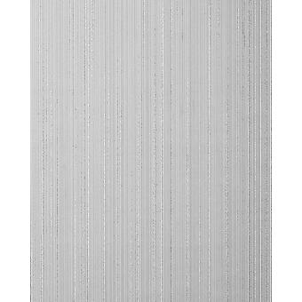 Stripe wallpaper EDEM 557 16 structured foam vinyl wallpaper signal gray silver-gray 5.33 m2 in a textile look dull grey-white