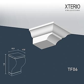 White console ORAC decor TF06 XTERIO wall bracket for canopy Zierlement timeless classic design