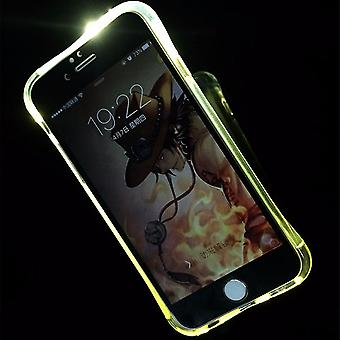 Composez le cas mobile LED Licht pour téléphone Apple iPhone 6 s plus transparent