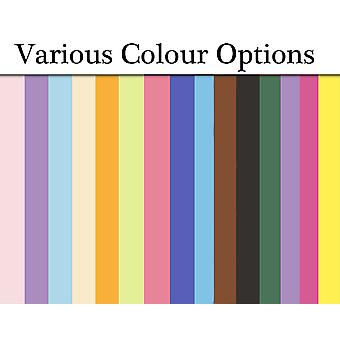 100 Card Sheets A6 for Crafts - Choice of Colours