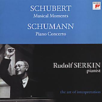 Schubert/Schumann - Schubert: Musical Moments; Schumann: Piano Concerto [CD] USA import