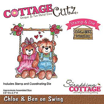 CottageCutz Stamp & Die Set-Ben On Swing CCS026