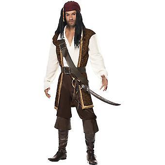 Caribbean Pirate Costume men's Sparrow pirate pirate costume