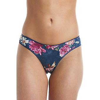 Royce Lingerie Womens Florence Teal Green Floral Briefs