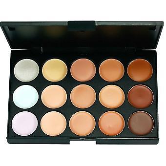 Boolavard® TM 15 hacer hermoso Color paleta corrector corrector camuflaje sombra de ojos con 7pcs cepillo