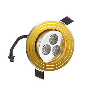 I LumoS High Quality Epistar 3 Watts Gold Rings Aluminium LED Spot Downlight