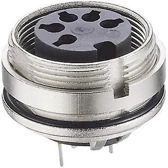 DIN connector Socket, vertical vertical Number of pins: 8 Silver Lumberg 0307 08-1 1 pc(s)