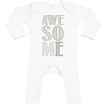 Spoilt Rotten AWESOME Baby Footless Romper