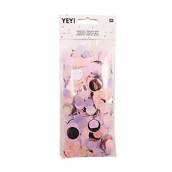 Paper Pastel Confetti Mix Pink Purple Gold Wedding Table Decoration