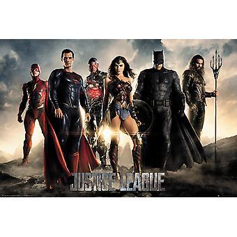 Personajes de la Liga de justicia Maxi Poster