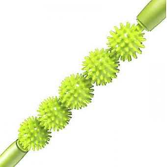 Kabalo Spiky Ball Trigger Point Muscle Therapy Stick Roller Spikey Massage Wand Rolling (Green)