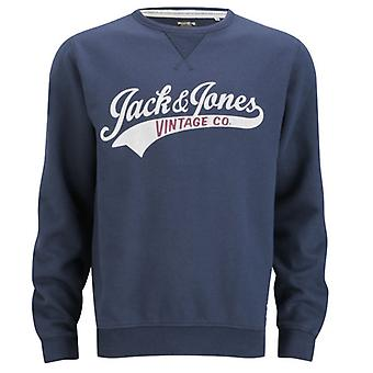 Jack and Jones Access Crew EXP 13 Track & Field Jumper Sweater Navy Blue
