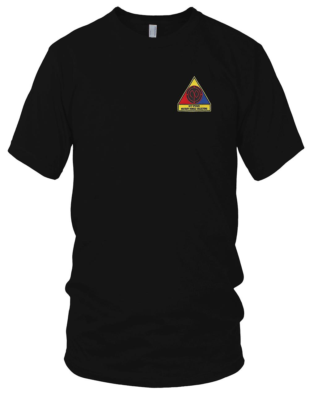Militärfahrzeug Sammler gestickt Patch - Kinder T Shirt