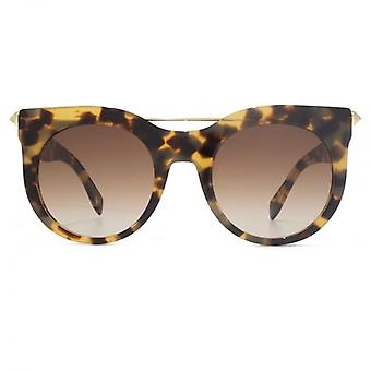Alexander McQueen Piercing Bar Sunglasses In Havana