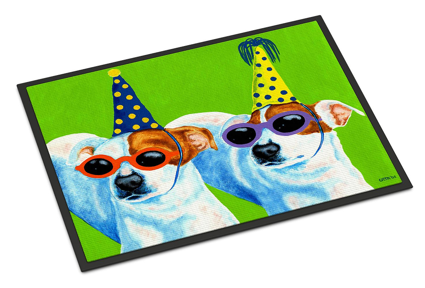 Party Animals Jack Russell Terriers Indoor Or Outdoor Mat