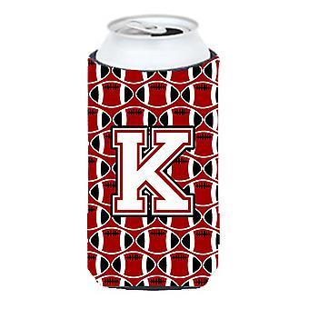 Letter K voetbal kardinaal en wit hoog Boy drank isolator Hugger