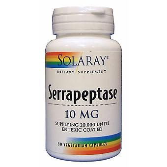 Solaray, Serrapeptase, 90 капсул