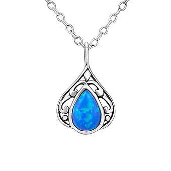 Teardrop - 925 Sterling sølv juveler halskjeder - W23646x