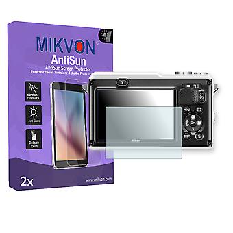 Nikon COOLPIX 1 AW1 Screen Protector - Mikvon AntiSun (Retail Package with accessories)