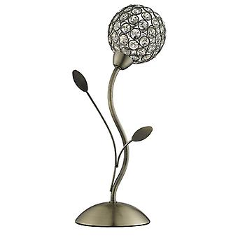 Bellis Ii Black Antique Brass And Glass Table Lamp - Searchlight 4571ab