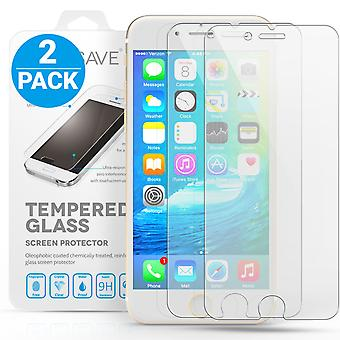 Yousave Accessories Iphone 6 And 6s Glass Screen Protector - Twin Pack