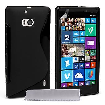 Caseflex Nokia Lumia 930 Silicone Gel S-Line Case - Black