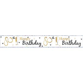 Simon Elvin Happy 80th Birthday Foil Party Banner