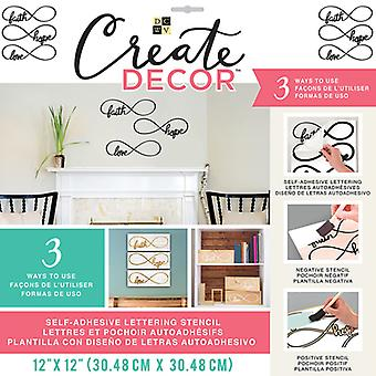 DCWV Create Decor Self-Adhesive Lettering & Stencil 12