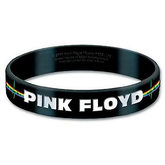 Pink Floyd Wristband Dark Side of the Moon Album Logo Official New Black Rubber