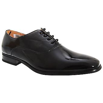 Goor Mens Patent PU With Leather Lining Lace-Up Oxford Tie Dress Shoes