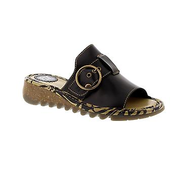 Fly London Tani - Black Bridle (Leather) Womens Sandals