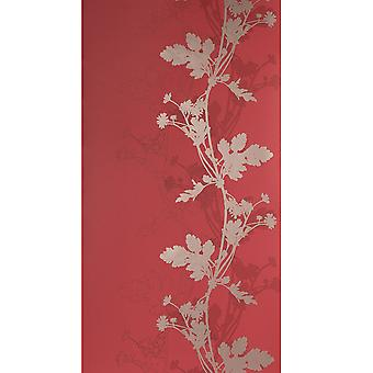 Blendworth Rode Wallpaper Roll - Paper Trail Lexington Design - kleur: BL-0902