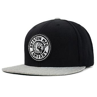Brixton Rival Snapback Cap - Black / Heather Grey