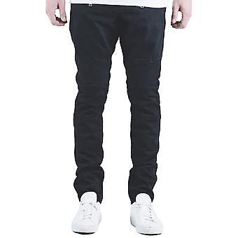 Embellish NYC Spencer Biker Denim Jeans Jet Black