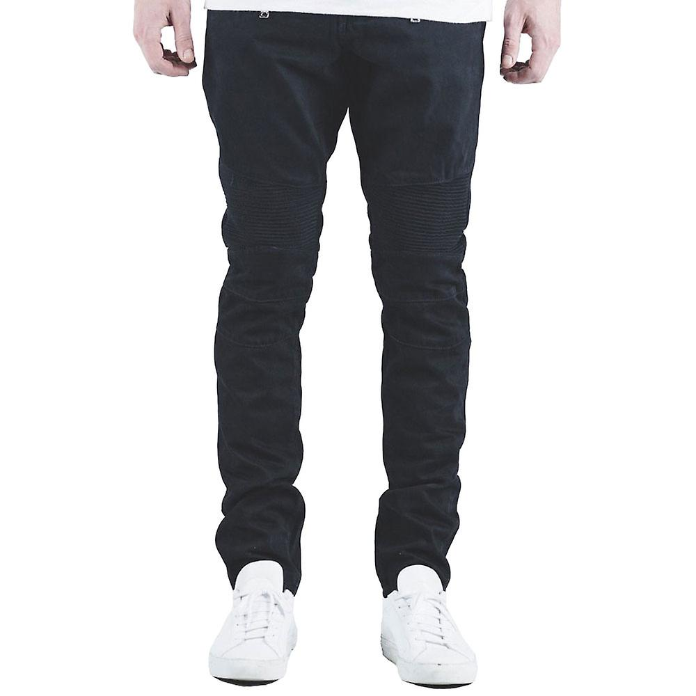Embellir Spencer Biker Jeans en Denim noir de jais