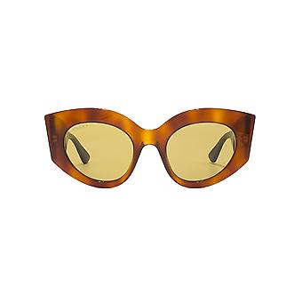 Gucci Sylvie Extreme Cateye Sunglasses In Light Havana