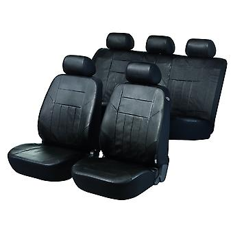 Soft Nappa Car Seat Cove Black Artificial Leather For Audi A4 2007-2015