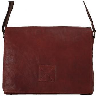 Ashwood Pedro Five Pocket Carry All Leather Messenger Bag