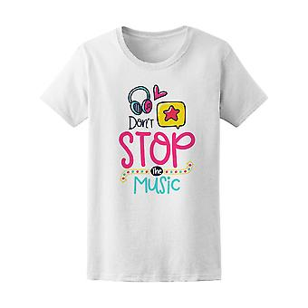 Don't Stop The Music Headphones Tee Women's -Image by Shutterstock