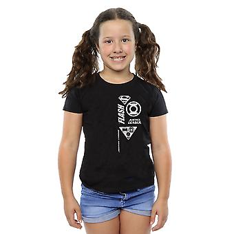 DC Comics Girls Justice League Brust Symbole T-Shirt