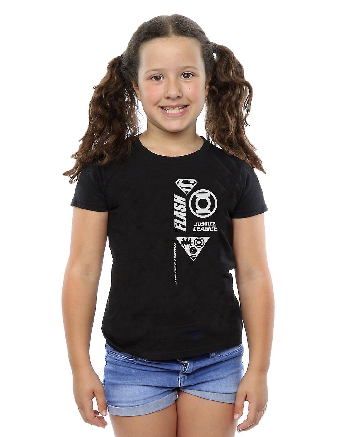 DC Comics filles Justice League poitrine icônes T-Shirt